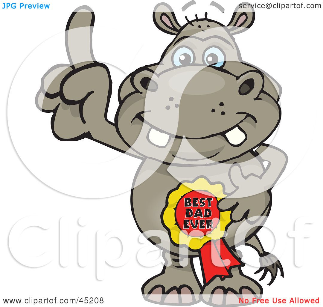 1080x1024 Royalty Free (Rf) Clipart Illustration Of A Hippo Character