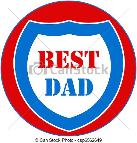 450x470 Best Dad Shield Stock Illustration