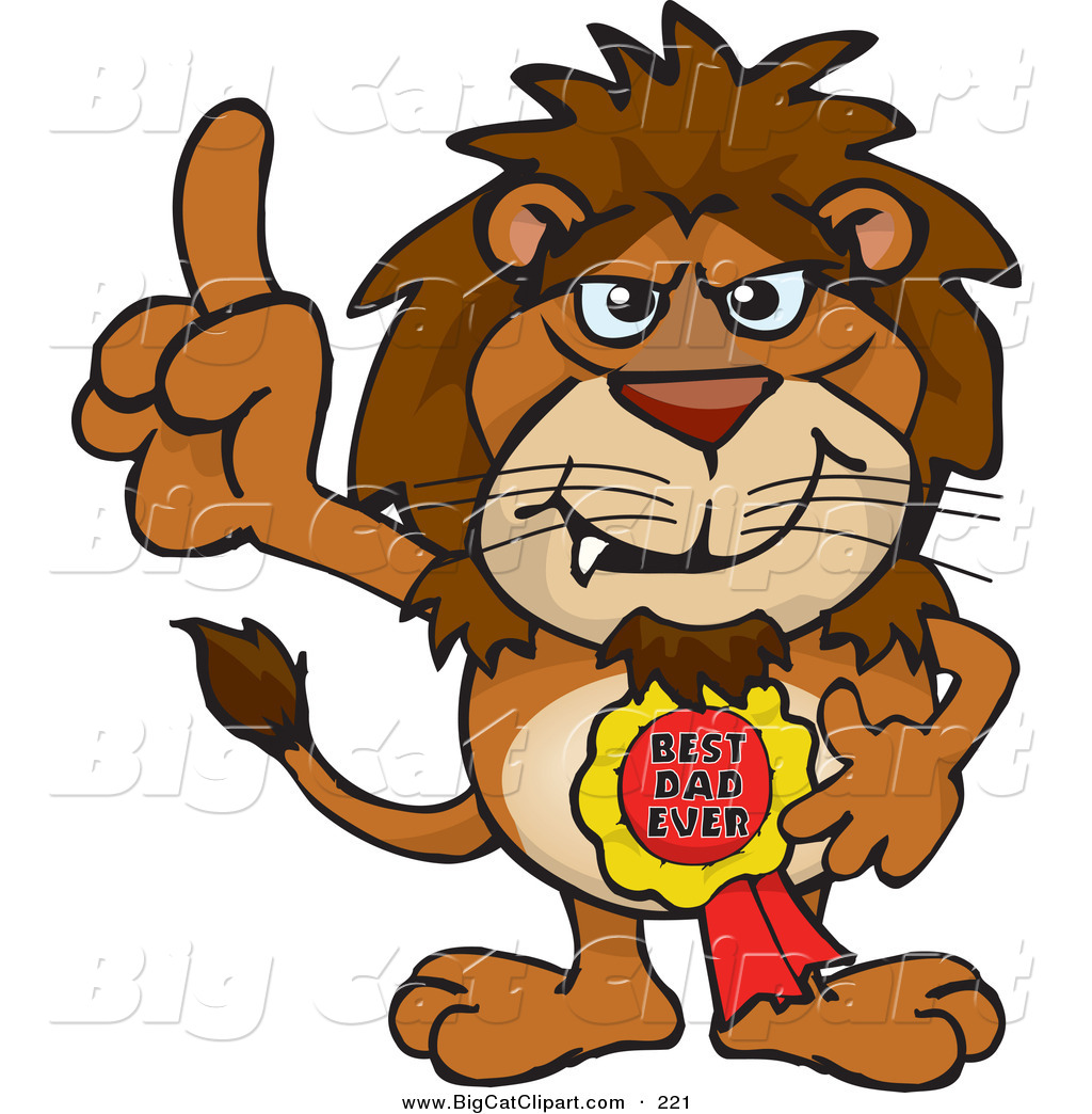 1024x1044 Big Cat Cartoon Vector Clipart Of Brown Lion Character Wearing