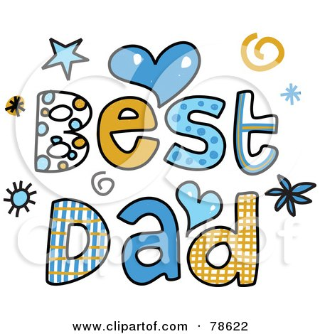 450x470 Royalty Free (Rf) Clipart Illustration Of Colorful Best Dad Words