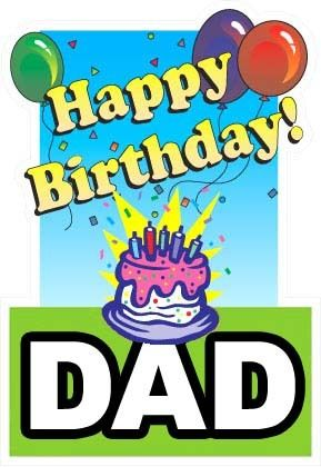 289x420 Happy Birthday Daddy Clipart