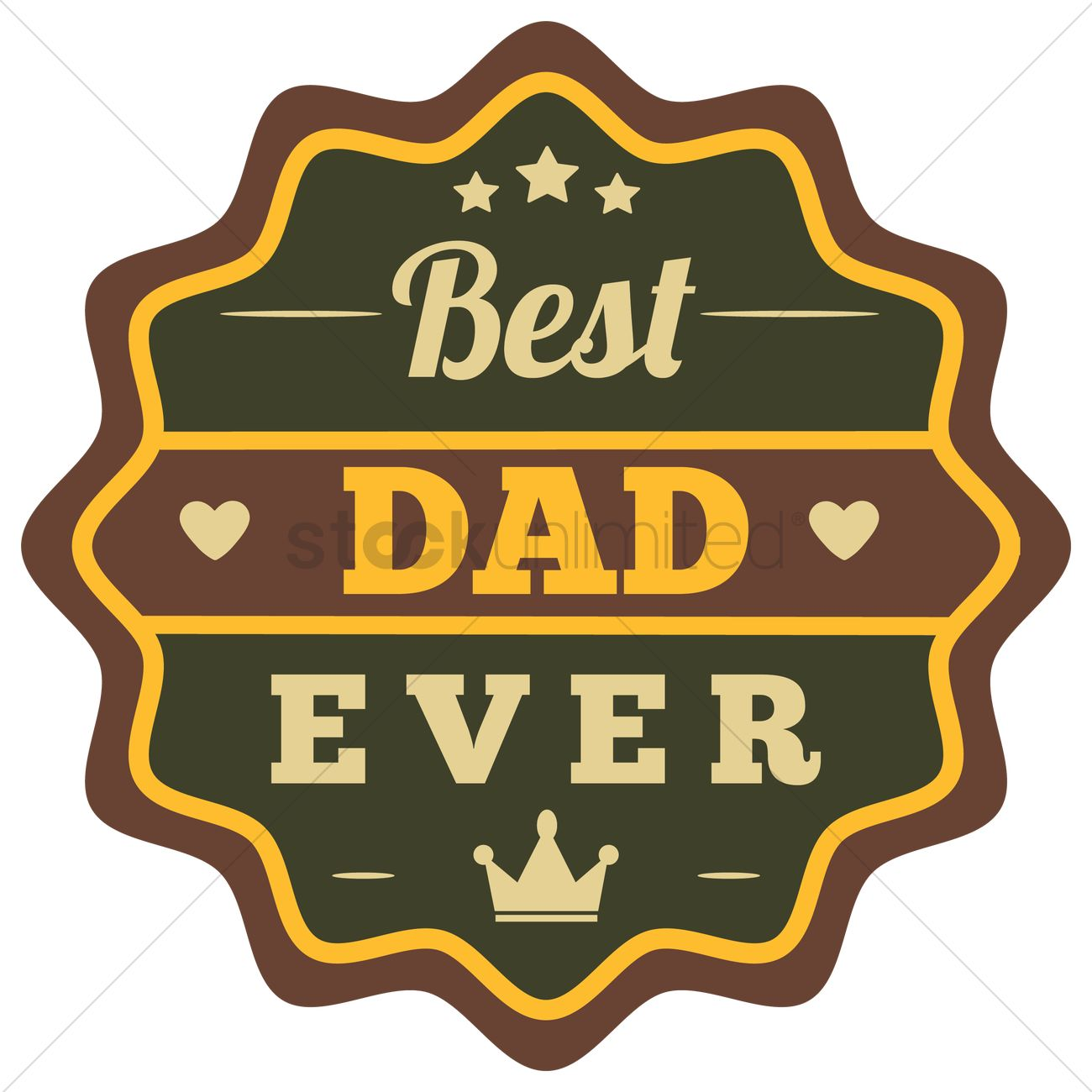 1300x1300 Best Dad Ever Label Vector Image