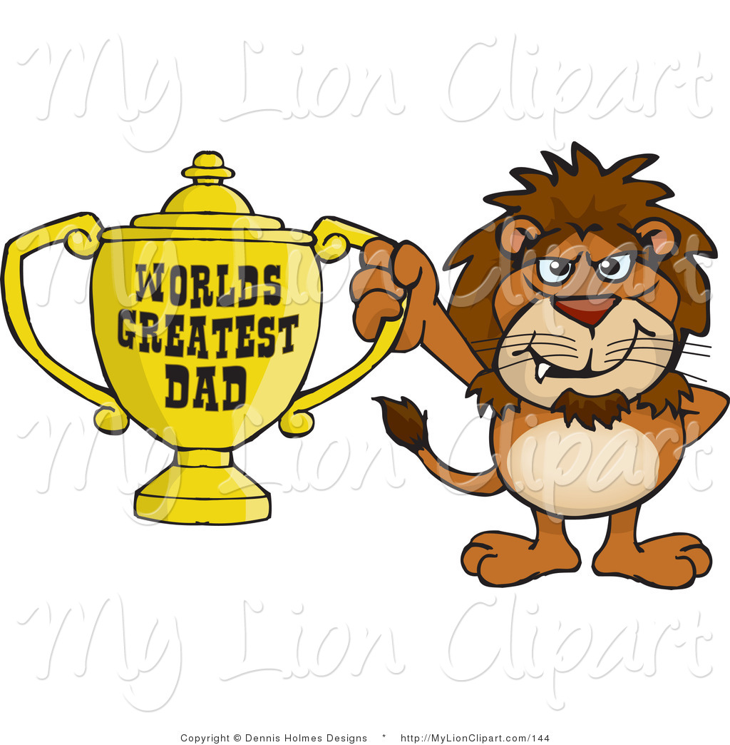 1024x1044 Clipart Of A Proud Lion Wildcat Character Holding A Golden Worlds