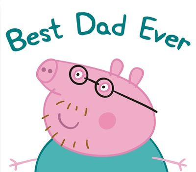 400x352 Peppa Pig, Daddy Pig, Best Dad Ever Canvas Prints By