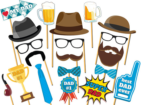 570x427 Best Dad Ever Father's Day Photo Booth Props Super Dad