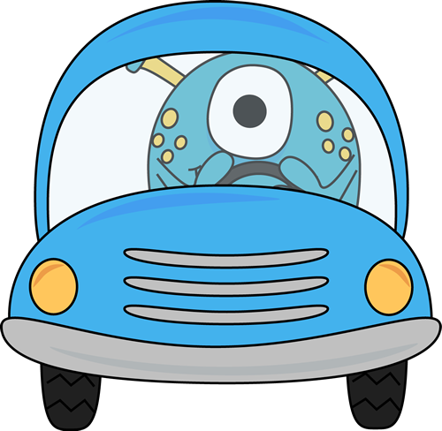 500x488 Skillful Car Clipart Clip Art Images Monster Driving A Blue Black