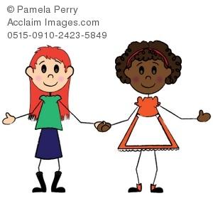 300x300 Clip Art Best Friends Girls