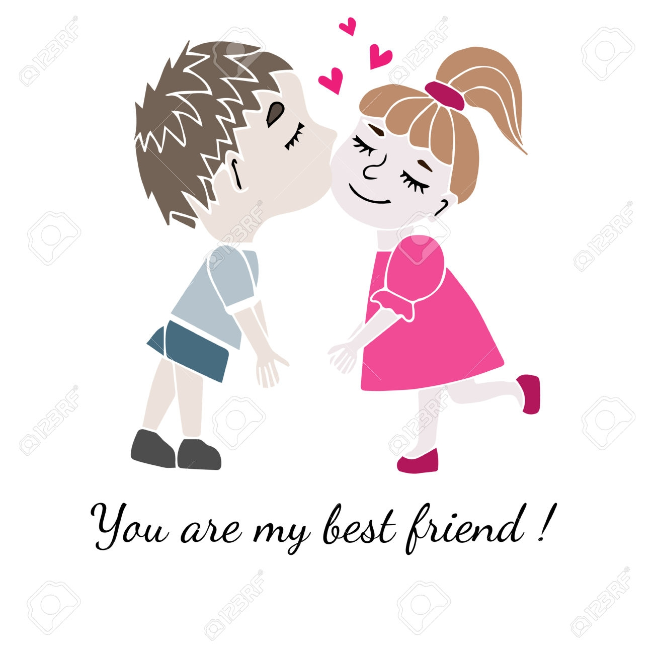 1300x1300 Clip Art Two Best Friends Boy And Girl Together With Inscription