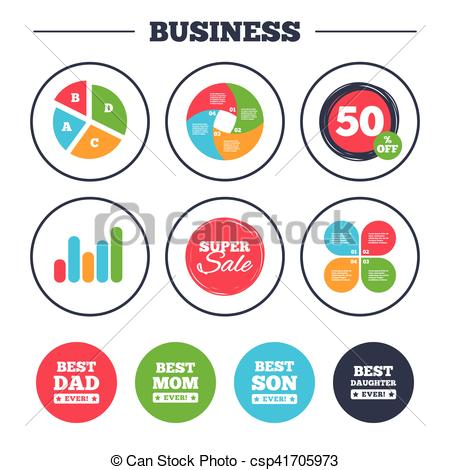 450x470 Best Mom And Dad, Son, Daughter Icons. Business Pie Chart