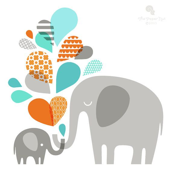 570x571 Collection Of Elephant Mom And Baby Clipart High Quality