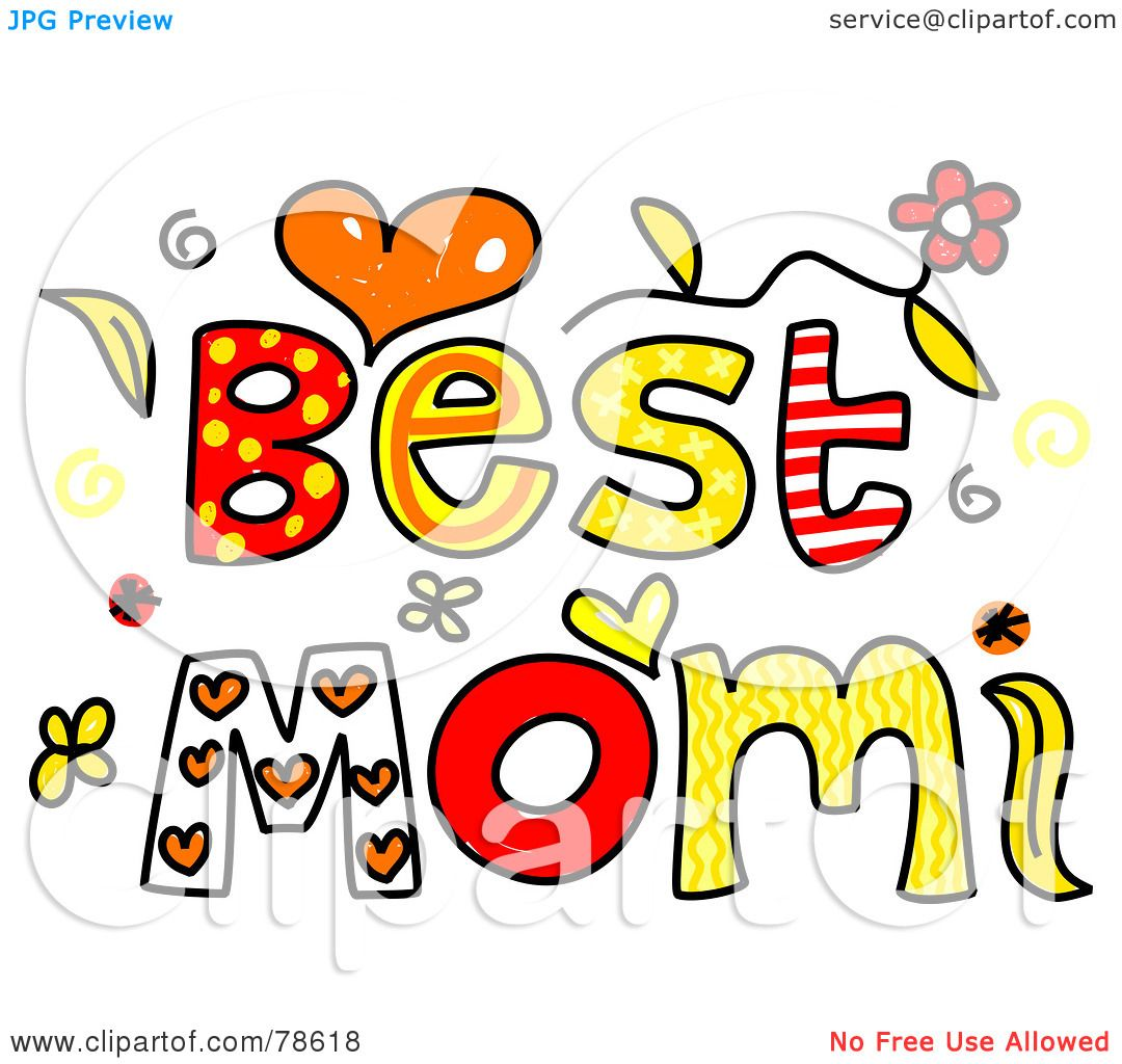 1080x1024 Royalty Free Rf Clipart Illustration Of Colorful Best Mom Words