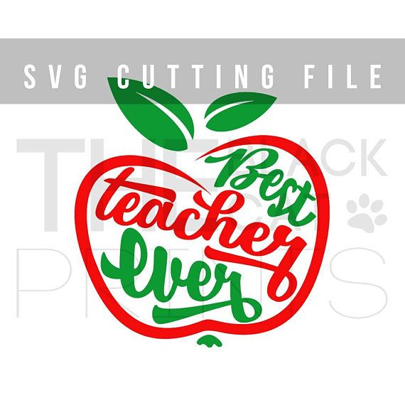 570x570 Best Teacher Ever Svg Cuttable File Cricut Svg Teacher Svg Design
