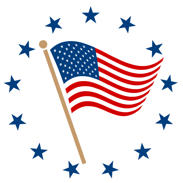 600x600 Free American Flag Clip Art Clip Art, Flags And Craft