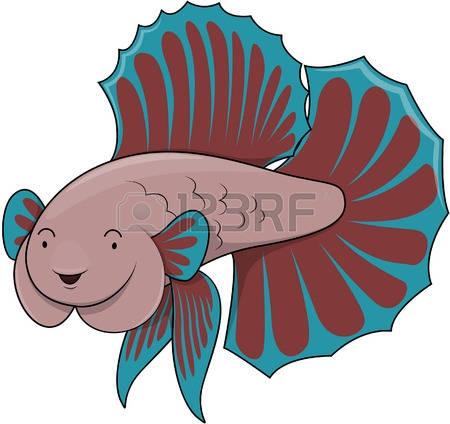 450x424 Clip Art 191 Betta Fish Stock Vector Illustration And Royalty Free