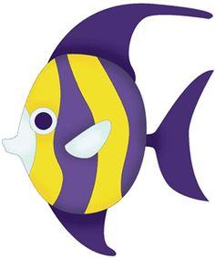 236x284 Butterflyfish Clipart Cute Purple Fish