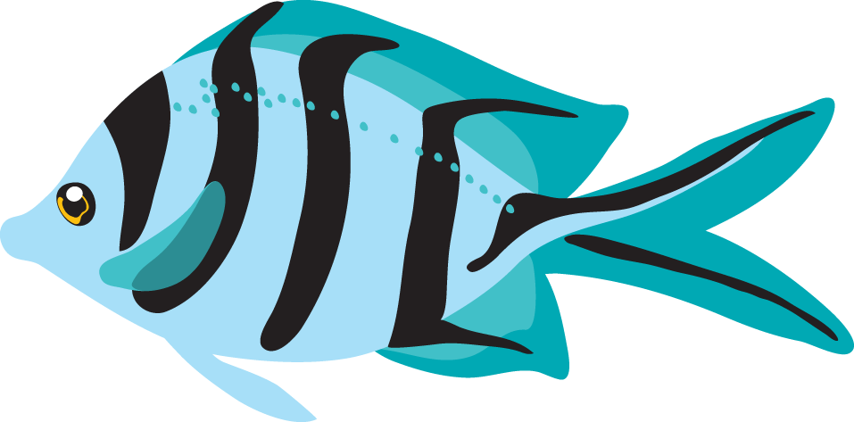 957x473 Teal Clipart Fish
