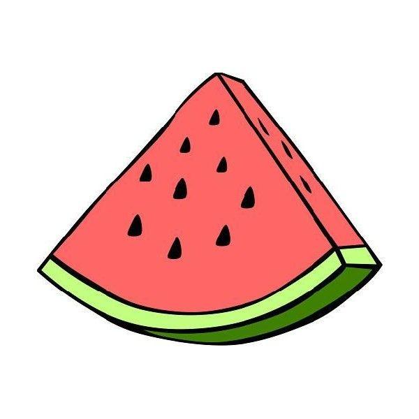 600x600 Watermelon Clip Art Liked On Polyvore Featuring Home, Home