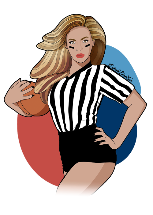500x700 Beyonce Superbowl By Simpledonjuan