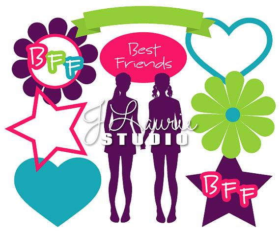 570x476 Digital Clipart Elements Bff Best Friend Clipart Best Friend