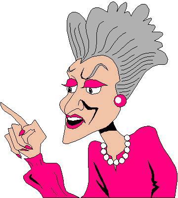 360x400 Gigloqic Old Lady Cartoon Clip Art