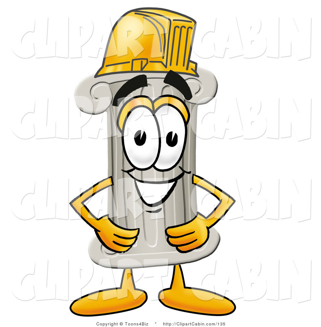 1024x1044 Cartoon Clip Art Of A Cute Pillar Mascot Cartoon Character Wearing