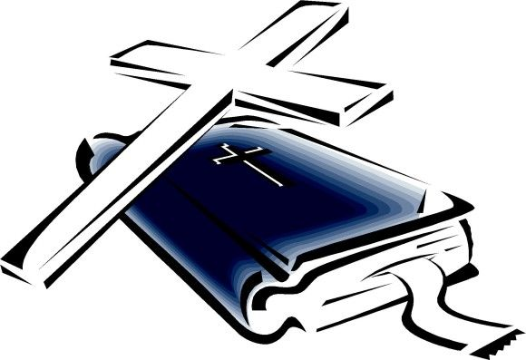 580x397 Open Bible With Cross Clip Art