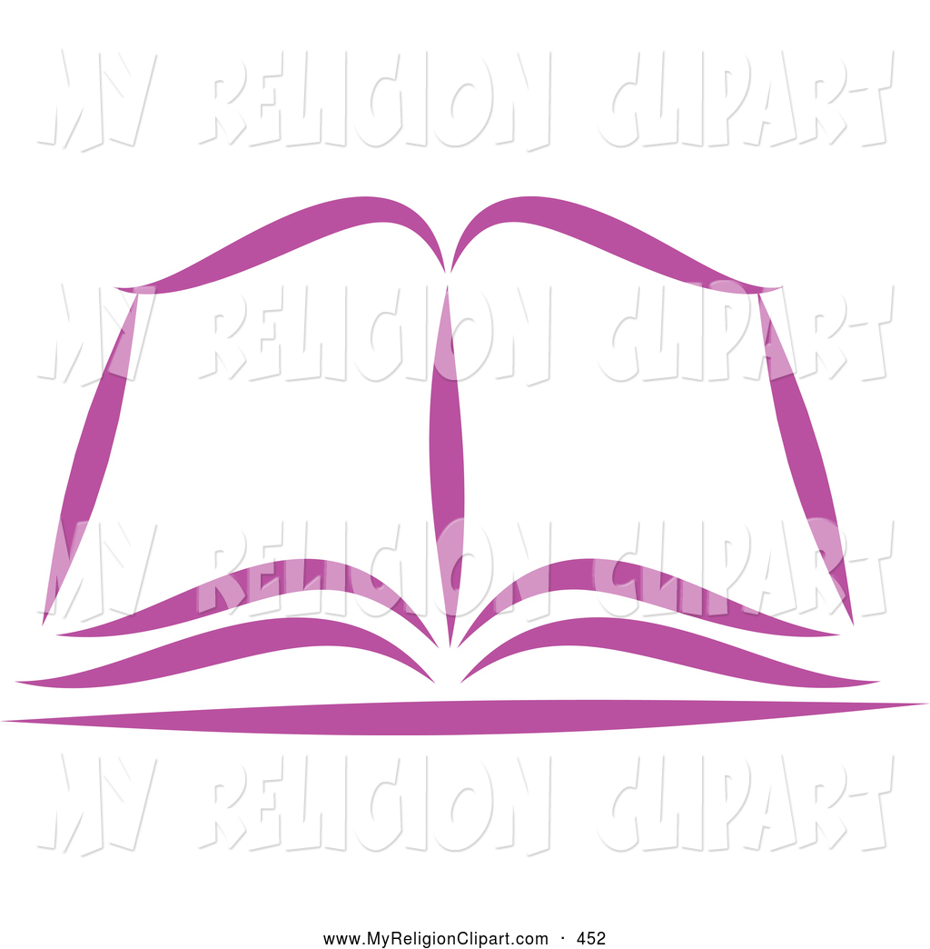1024x1044 Religion Clip Art Of A Purple Open Bible Or Book On White By