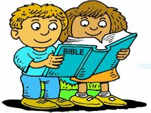 220x165 Bible Reading Clipart Image Dad Reading Bible Stories To His