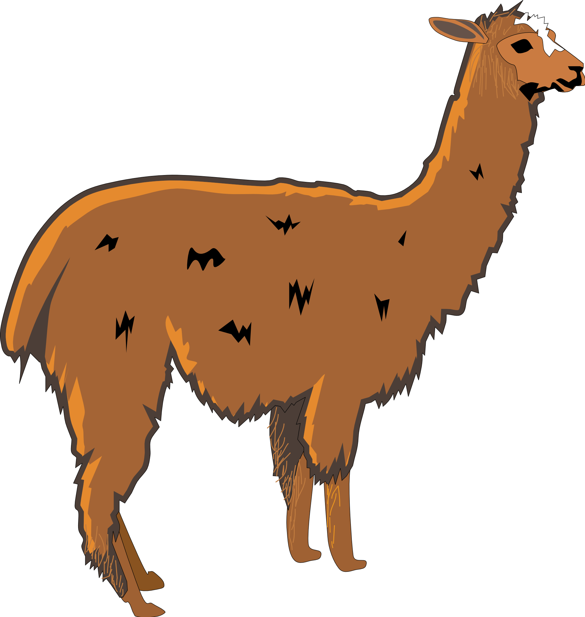1969x2076 Llama Clipart Collection