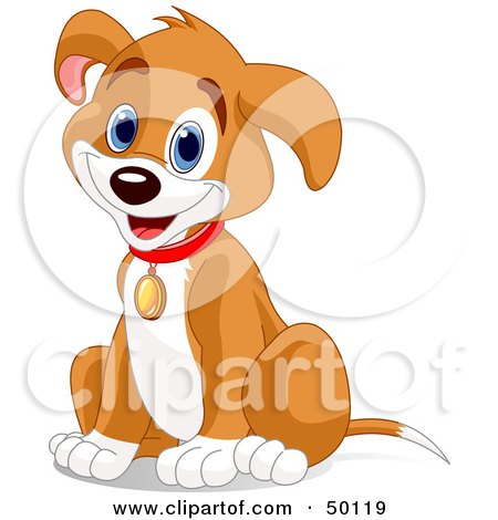 450x470 Royalty Free (Rf) Clipart Illustration Of A Hyper Puppy Dog