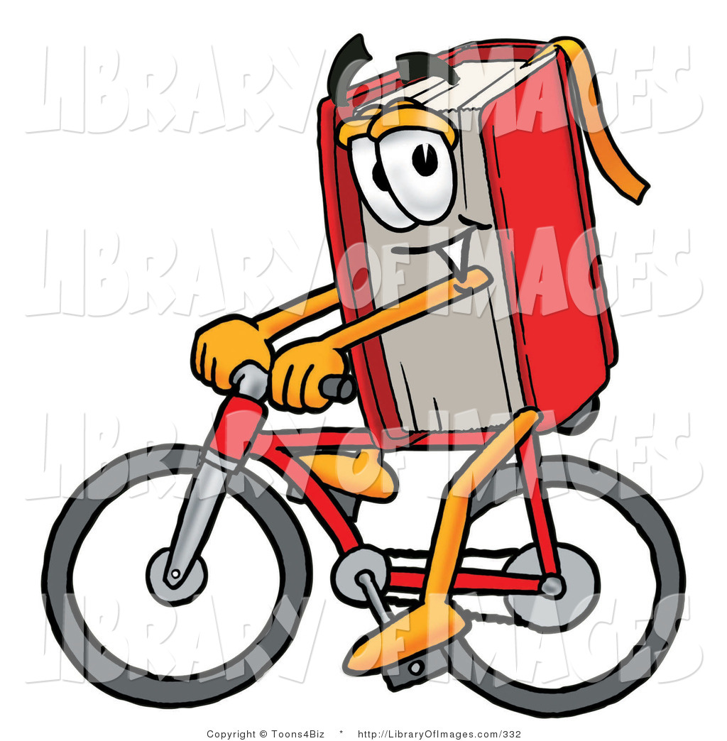 1024x1044 Cliprt Of Sporty Red Book Mascot Cartoon Character Riding