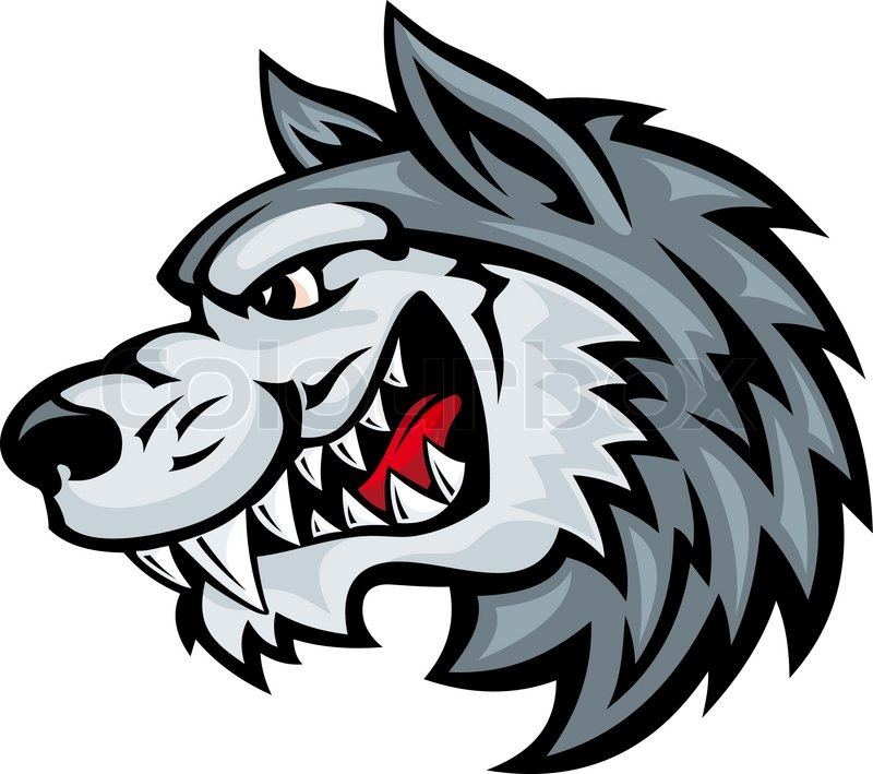 800x709 White Wolf Clipart Angry