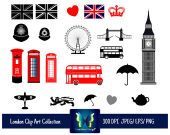 340x270 Items Similar To London Travel Stamps Clipart Set