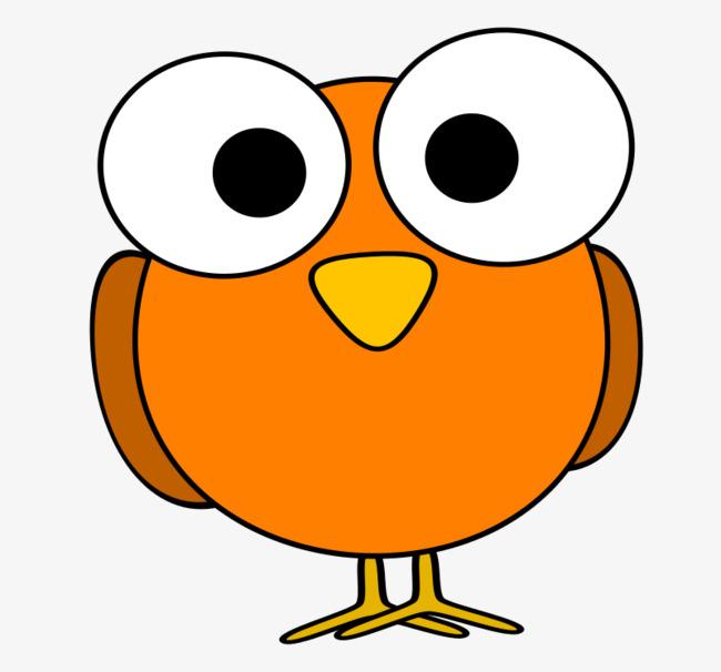 650x606 Orange Cartoon Eyes Birds, Orange, Lovely, Big Eyes Png Image