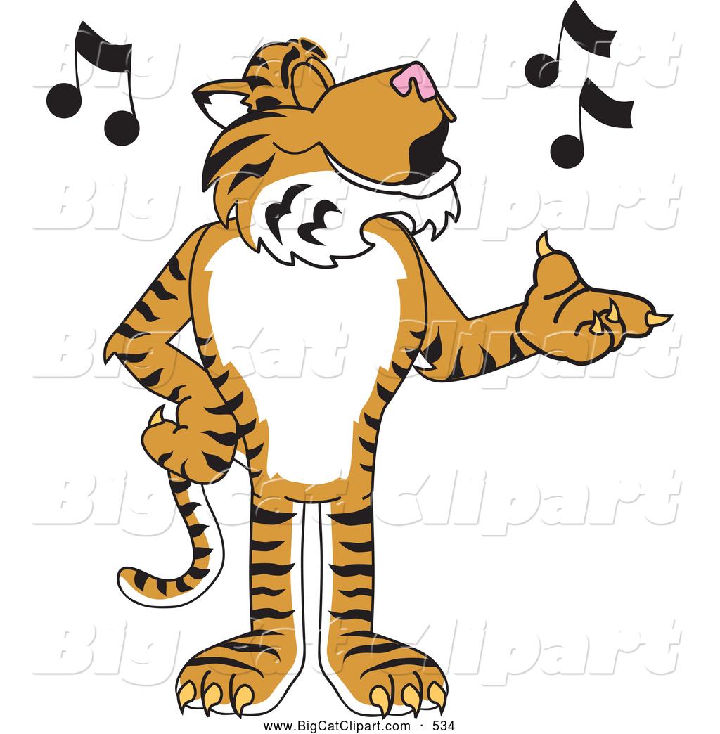 1024x1044 Big Cat Cartoon Vector Clipart Of A Striped Tiger Character School