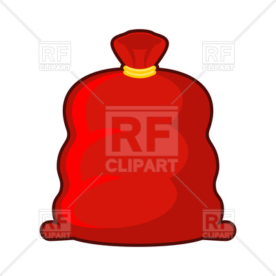 400x400 Big Red Fat Christmas Bag Royalty Free Vector Clip Art Image