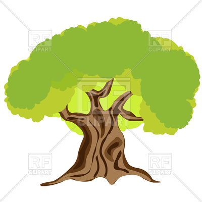 400x400 Big Tree Royalty Free Vector Clip Art Image