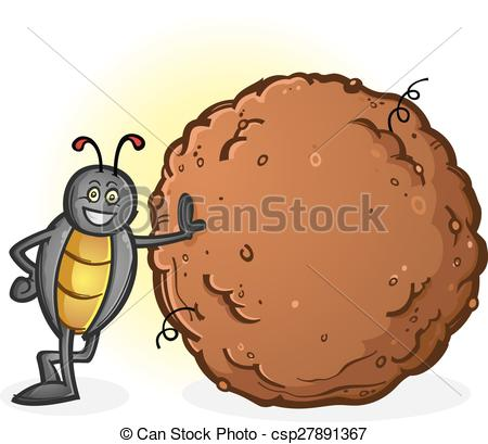 450x409 A Proud, Smiling And Busy Dung Beetle With A Big Ball Of Clip