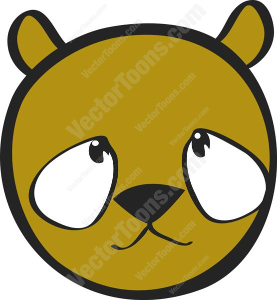 555x600 Cute Big Eyed Brown Teddy Brear Smiley With Big Eyes, Small Ears