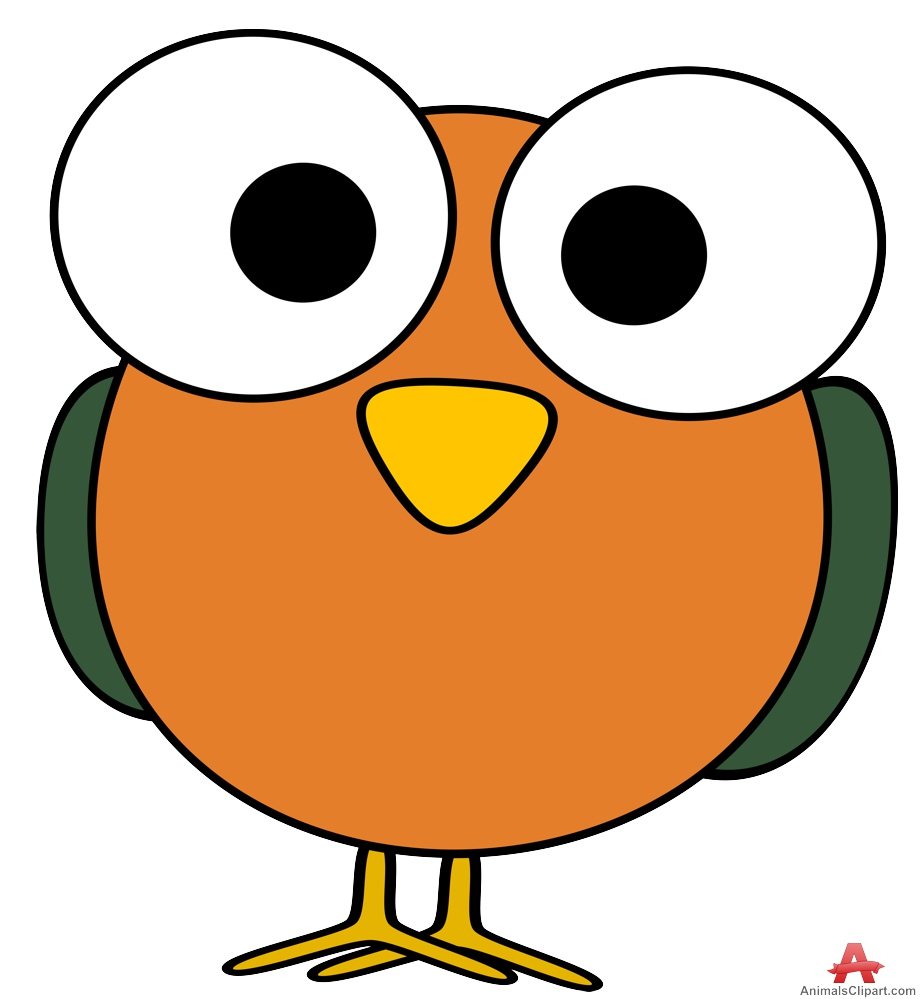 923x999 Funny Bird With Big Eyes Free Clipart Design Download