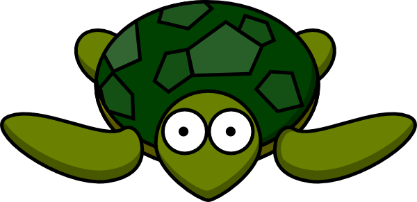 600x291 Turtle With Big Eyes Clip Art