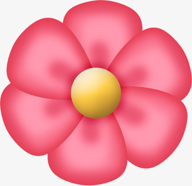 650x630 Pink Flower, Hand Painted, Big Flower, Pink Png Image And Clipart