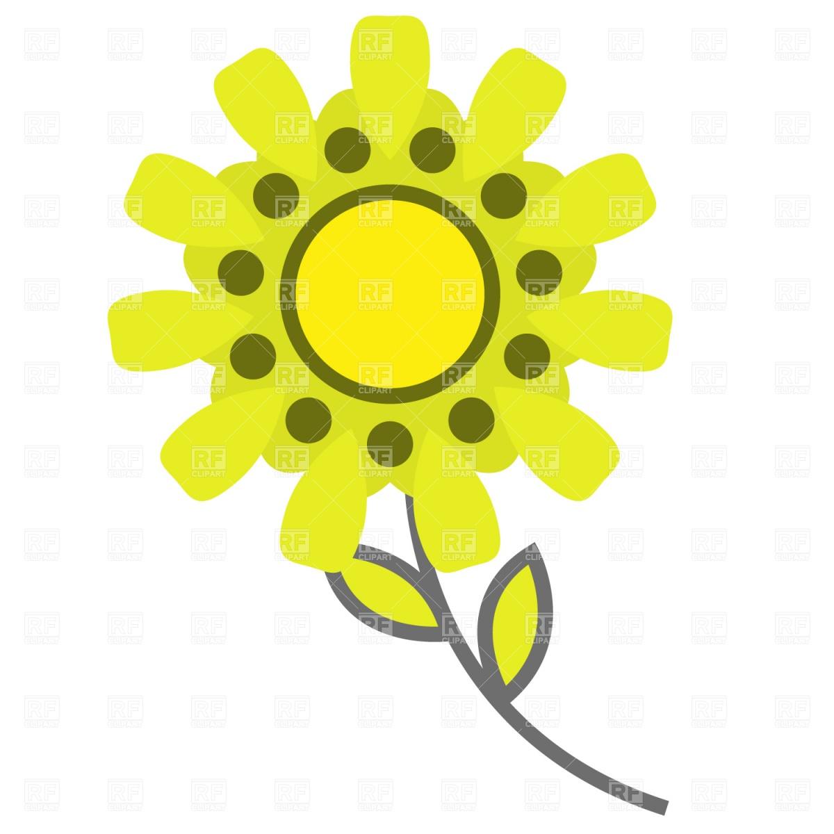 1200x1200 Symbolic Cartoon Flower Royalty Free Vector Clip Art Image