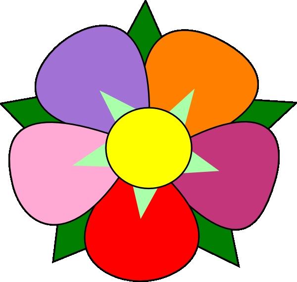 600x571 Big Flower Clipart