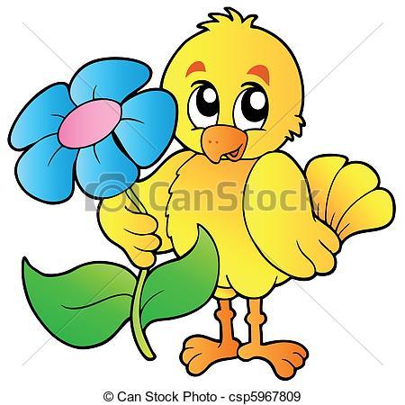 450x450 Chicken Holding Big Flower