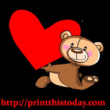 417x417 Free Love Teddy Bear Clip Art