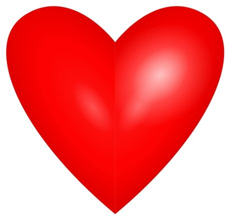 460x435 Beautiful Red Heart Clipart