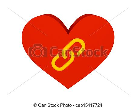 450x357 Big Red Heart With Link Symbol. Big Red Heart With Link Clip