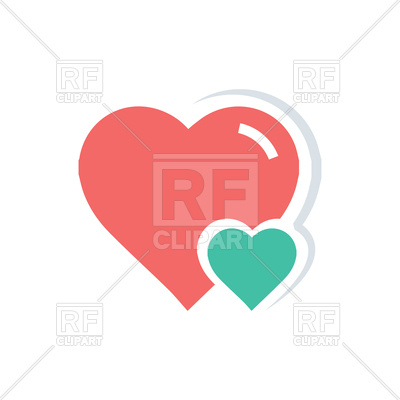 400x400 Big And Little Heart Icon Royalty Free Vector Clip Art Image