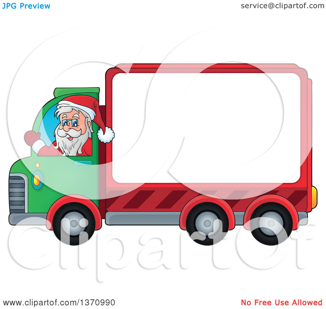 1080x1024 Clipart Of A Christmas St Nicholas Santa Claus Waving And Driving